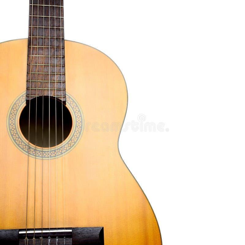 Крупный план акустической гитары классическая близкая гитара вверх стоковое изображение rf