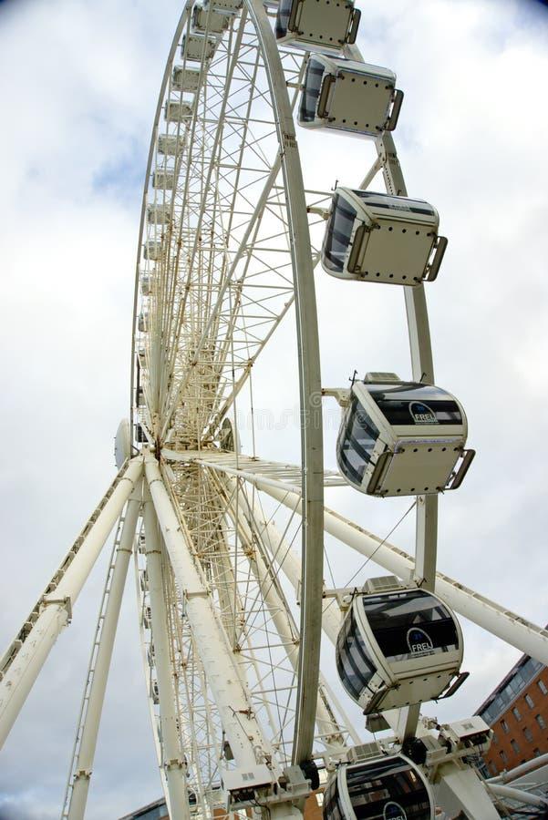 Крупный план большого колеса Ливерпуля стоковое фото rf