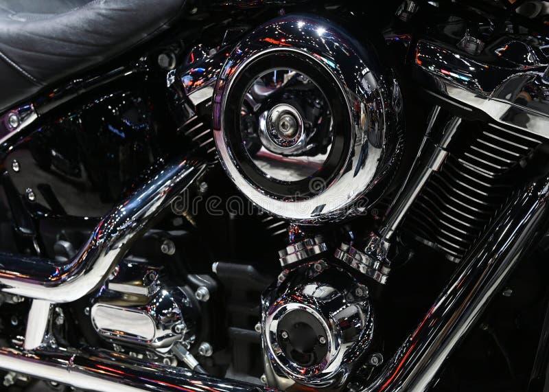 Крупный план двигателя мотоцикла стоковое фото