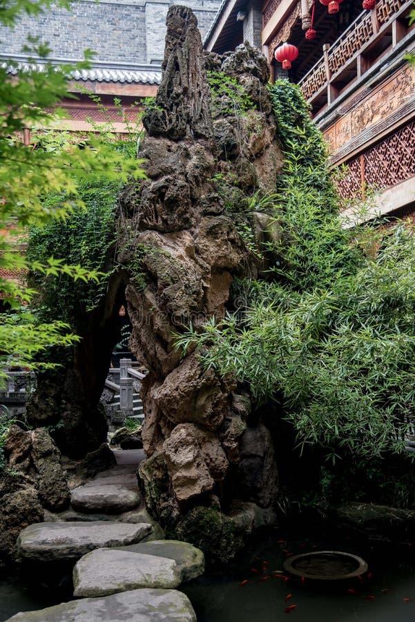 Крупный план китайского сада стоковая фотография rf