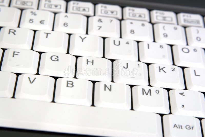 Крупный план клавиатуры компьтер-книжки стоковое изображение rf