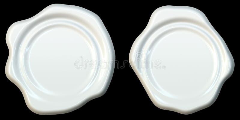 Крупный план красочного уплотнения изолированного над белой предпосылкой, вида спереди воска иллюстрация вектора