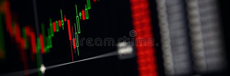 Крупный план международного индикатора диаграммы заявк фондовой биржи стоковое изображение rf