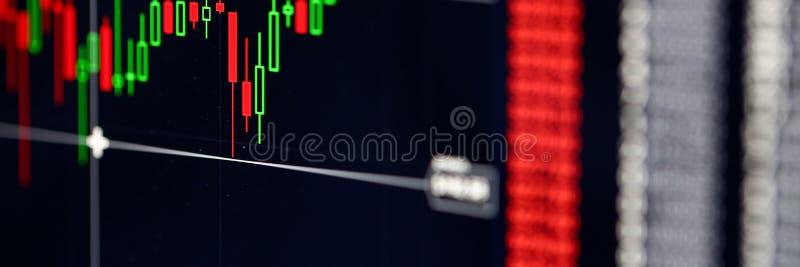 Крупный план международных заявк фондовой биржи изображает диаграммой индикатор с ценами стоковые фотографии rf