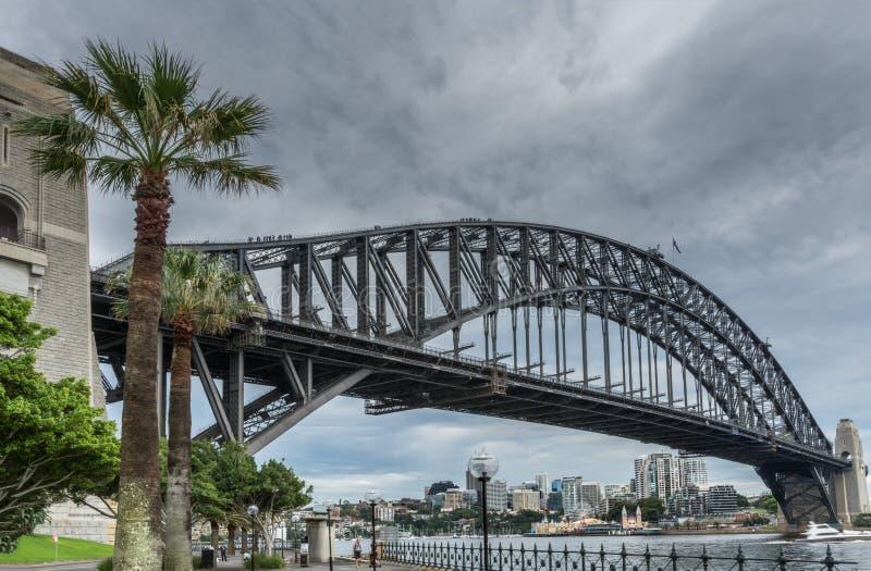Крупный план моста гавани, Сиднея Австралии стоковая фотография