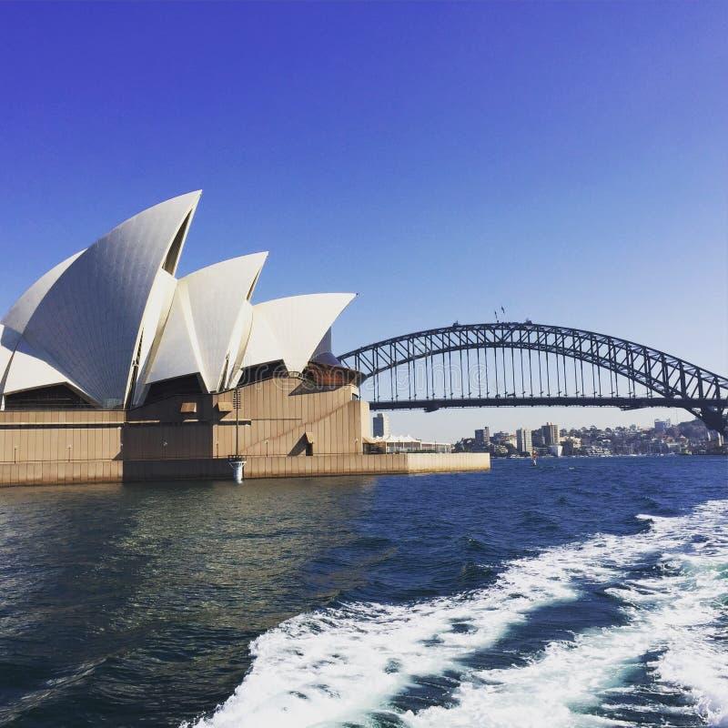 Крупный план оперного театра Сиднея стоковые изображения