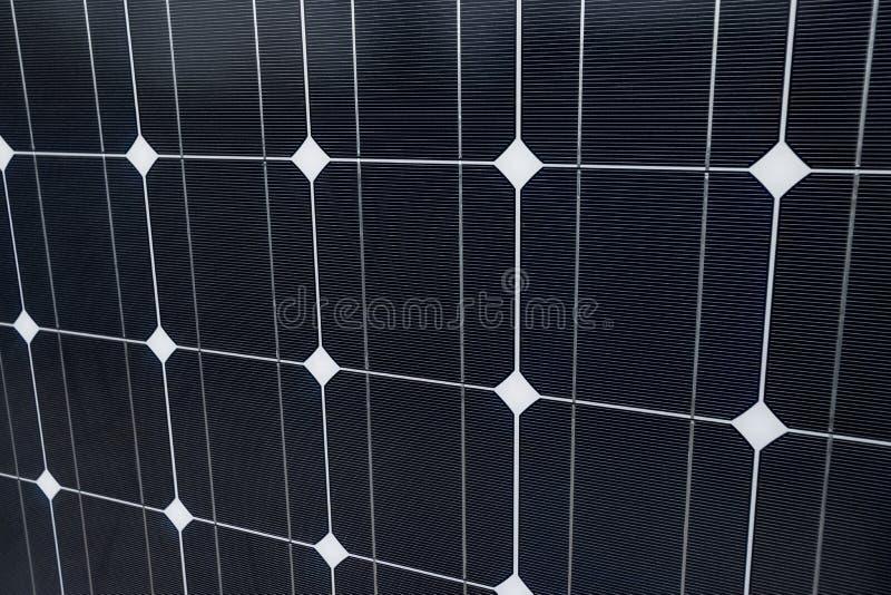 Крупный план панели солнечных батарей как предпосылка стоковые изображения rf
