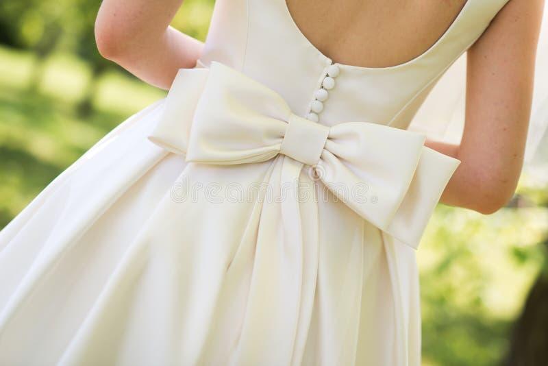 крупный план платьев свадьбы стоковые фотографии rf