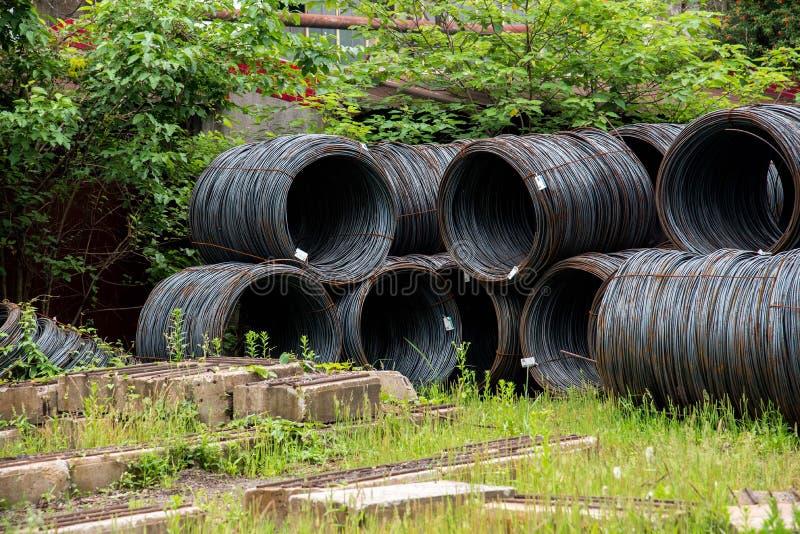 Крупный план ржавых стальных прутов стоковые фотографии rf