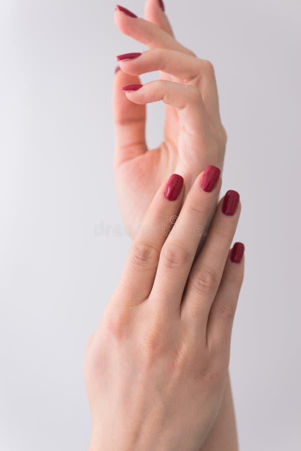 Крупный план рук молодой женщины стоковая фотография