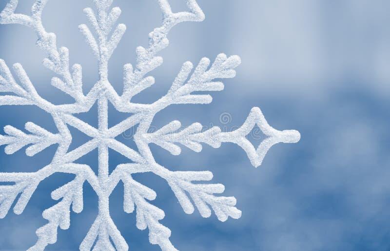 Крупный план снежинки большой стоковое изображение rf