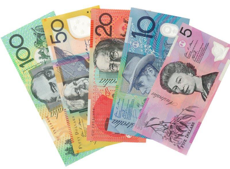Крупный план снятый австралийского доллара стоковое фото