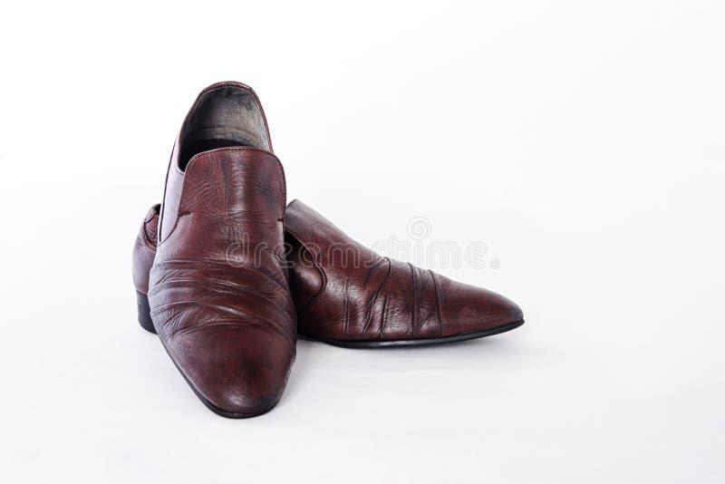 Крупный план совершенно новых модных мужских классических кожаных ботинок стоковое изображение