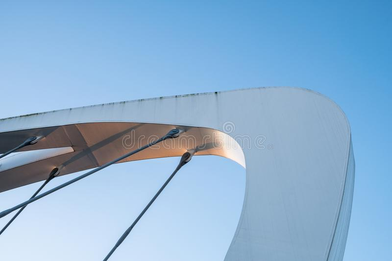 Крупный план структуры поддержки моста стоковые изображения