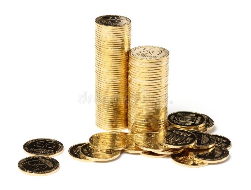 крупный план чеканит золотистое стоковое фото