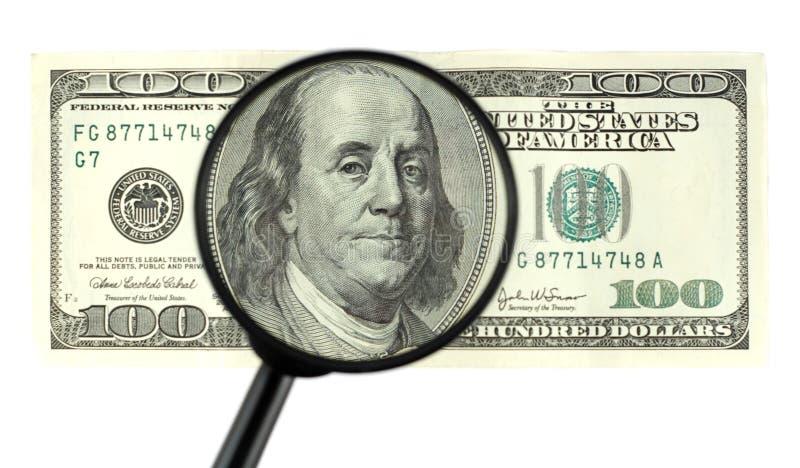 крупный план 100 кредиток стоковые изображения
