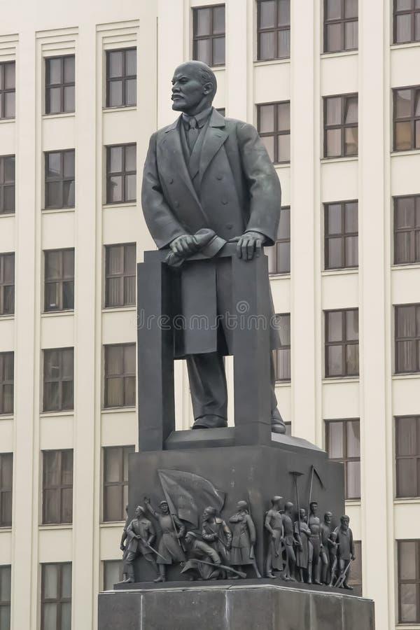 Крупный план comunism lenin статуи стоковая фотография
