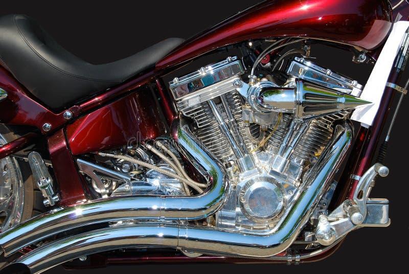 Крупный план S&S IronHorse двигателя мотоцикла стоковые фото