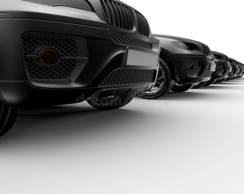 Крупный план автомобилей SUV иллюстрация вектора