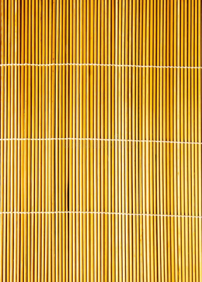 Крупный план бамбуковой циновки стоковое фото