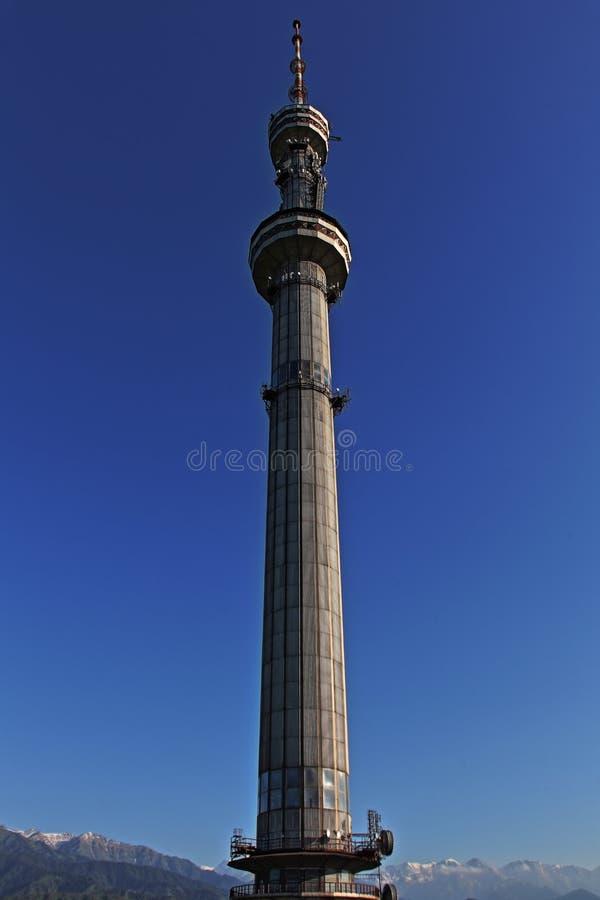 Крупный план башни Алма-Аты стоковая фотография rf