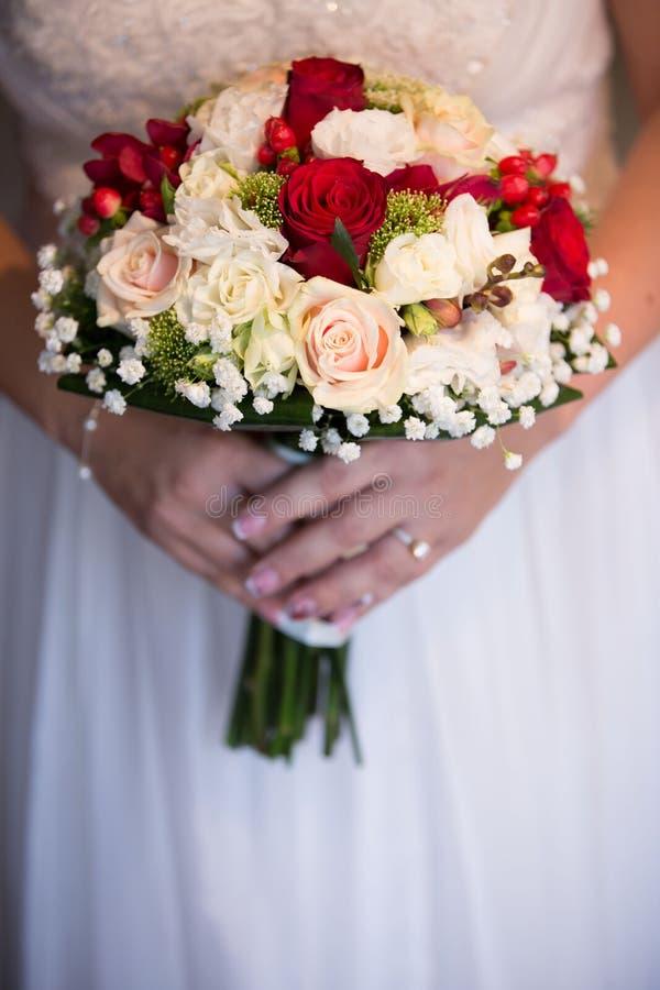 Крупный план букета свадьбы стоковое изображение