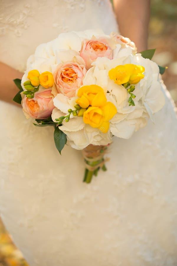 Крупный план букета свадьбы стоковое фото rf