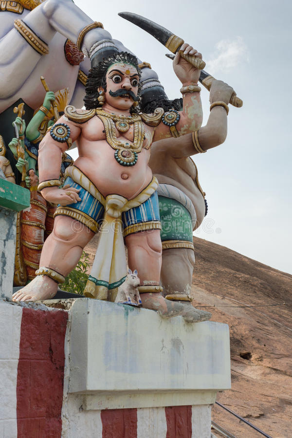 Крупный план воюющего божества Karuppana Sami стоковые фото