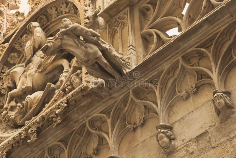 Крупный план готической Барселоны (Catalunya, Испании) стоковая фотография