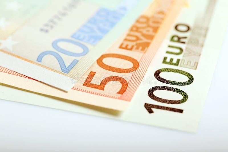 Крупный план денег евро стоковые фото