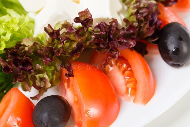 Крупный план диска свежего овоща стоковые фотографии rf