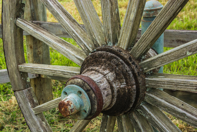 Крупный план колеса телеги стоковое изображение rf