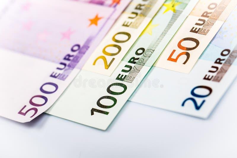 Крупный план кредиток евро стоковая фотография