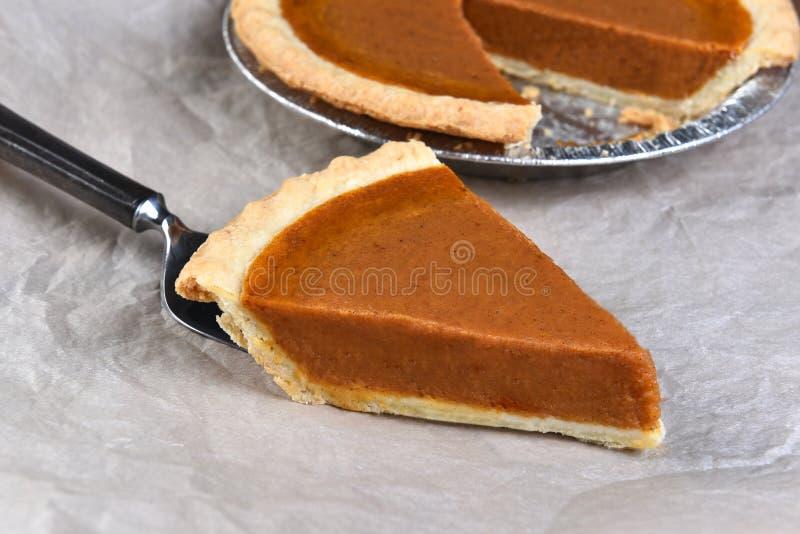 Крупный план куска пирога тыквы стоковые изображения rf