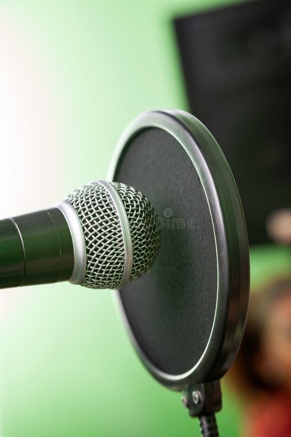 Крупный план микрофона стоковые изображения