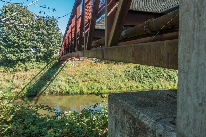 Крупный план 2 моста Green River идя стоковое фото
