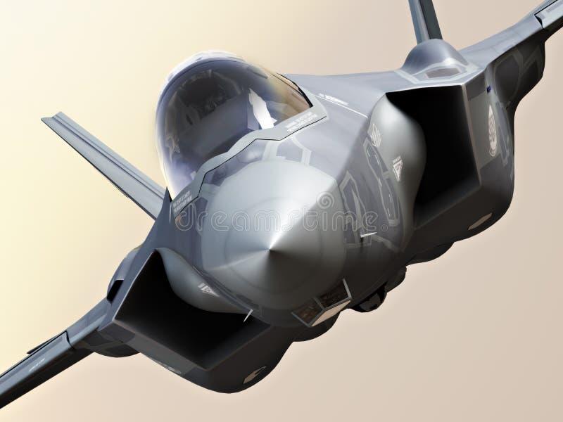 Крупный план молнии F35-A иллюстрация вектора