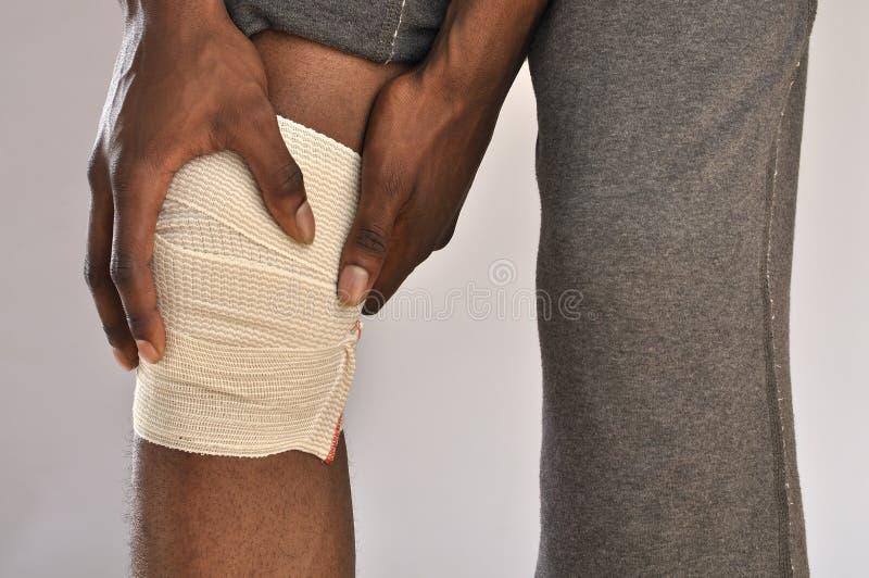 Боль колена стоковая фотография