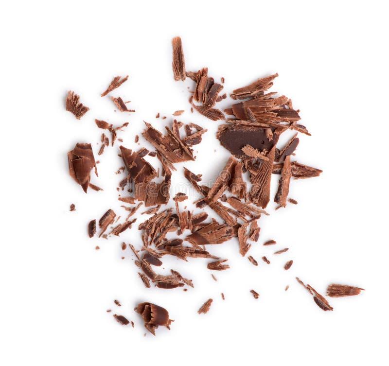 Крупный план обломоков шоколада стоковое фото rf