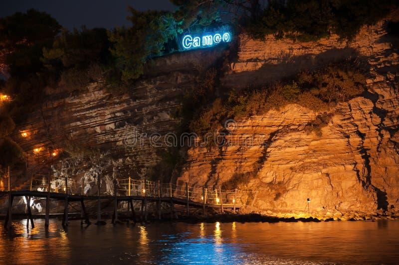 Крупный план острова на ноче, Zakynhtos камеи, Греции стоковые фото