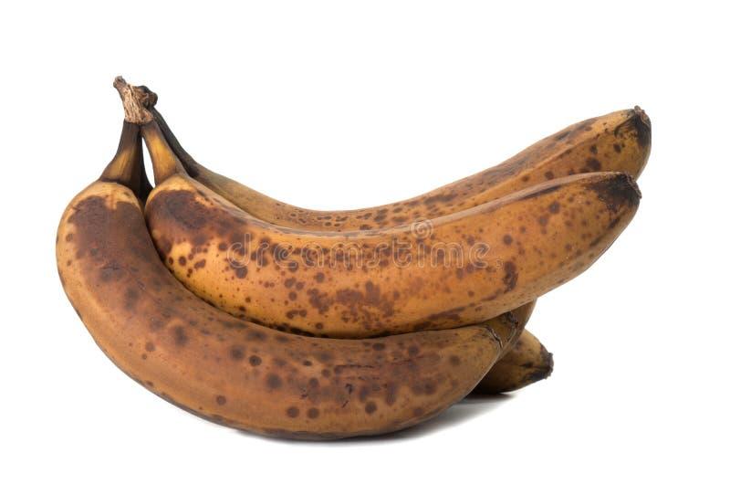 Крупный план перезрелого и старого банана стоковое изображение rf