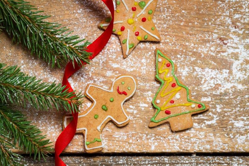 Крупный план печений пряника для рождества стоковая фотография