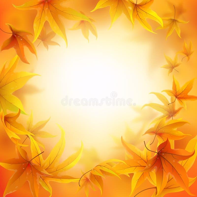 крупный план предпосылки осени красит красный цвет листьев плюща померанцовый иллюстрация вектора