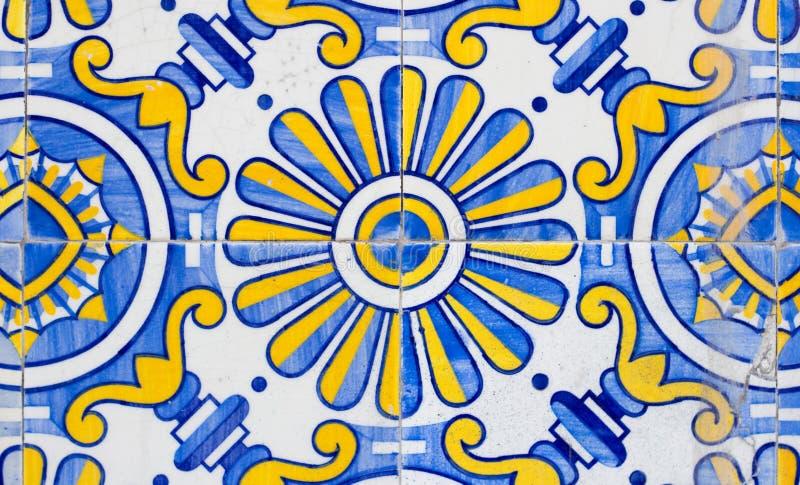 Крупный план плиток azulejos Португалии стоковое фото rf