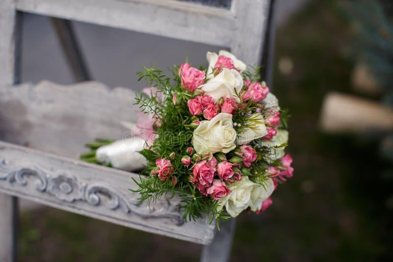 Крупный план снятый красивого букета свадьбы стоковые изображения rf
