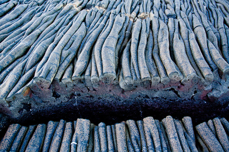 Крупный план снял образований лавы в острове Сантьяго стоковое фото