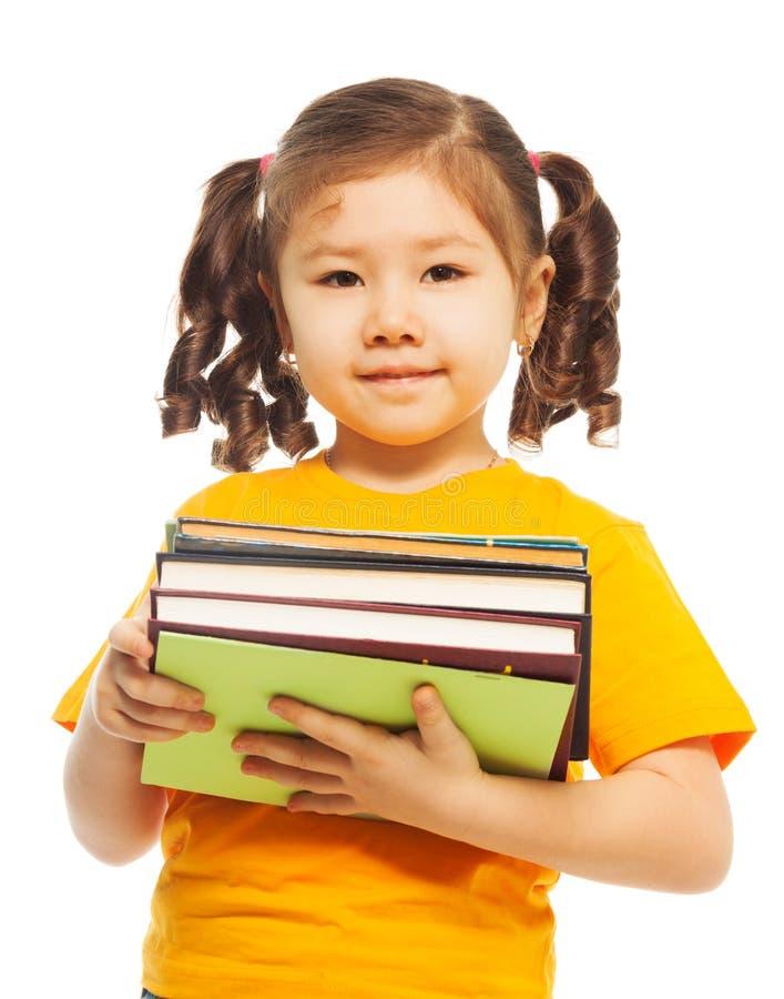 Малыш с книгами стоковая фотография rf