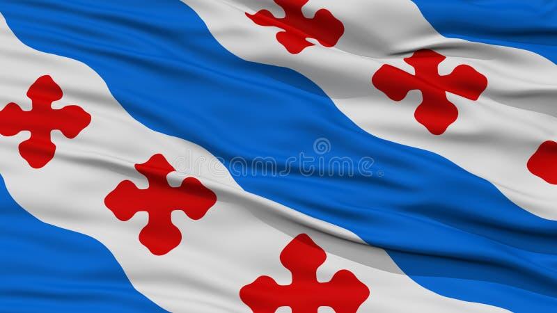 Крупный план флага города Роквилла иллюстрация вектора