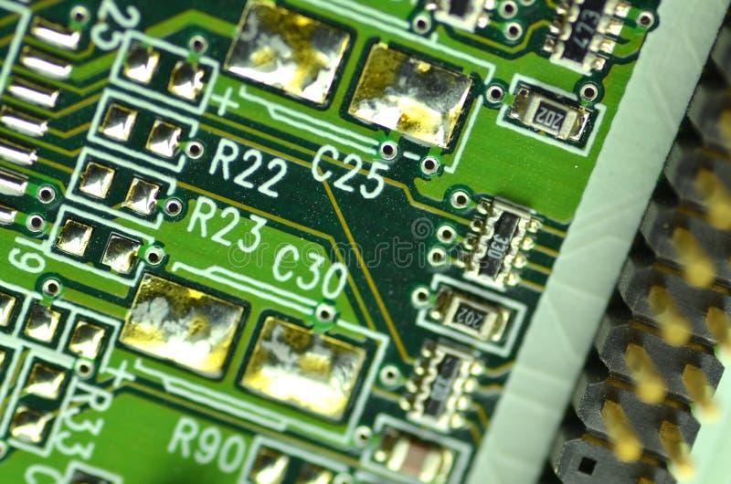 крупный план цепи доски электронный стоковые изображения rf