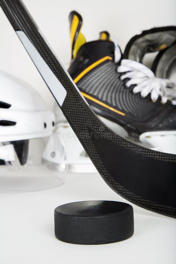 Крупный план шестерни хоккея стоковые фотографии rf